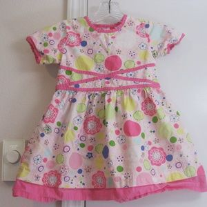 Hanna Andersson Girls Floral Cotton Dress - 90/3